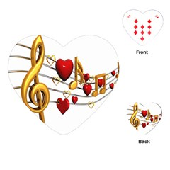 Music Notes Heart Beat Playing Cards (Heart)