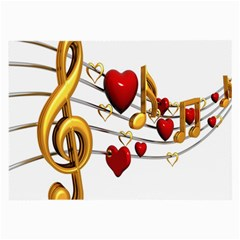 Music Notes Heart Beat Large Glasses Cloth (2-Side)