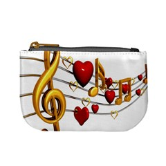 Music Notes Heart Beat Mini Coin Purses