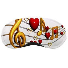 Music Notes Heart Beat Sleeping Masks