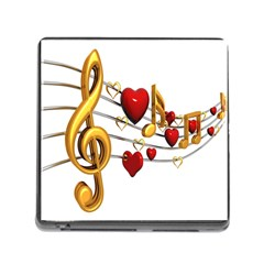 Music Notes Heart Beat Memory Card Reader (Square)