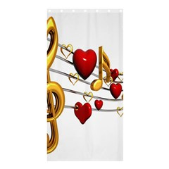 Music Notes Heart Beat Shower Curtain 36  X 72  (stall)