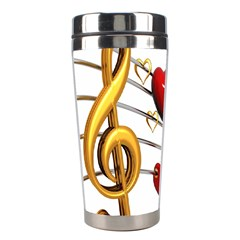 Music Notes Heart Beat Stainless Steel Travel Tumblers