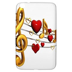 Music Notes Heart Beat Samsung Galaxy Tab 3 (8 ) T3100 Hardshell Case