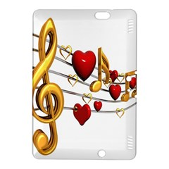Music Notes Heart Beat Kindle Fire HDX 8.9  Hardshell Case