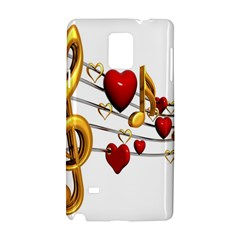 Music Notes Heart Beat Samsung Galaxy Note 4 Hardshell Case