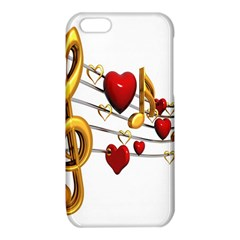 Music Notes Heart Beat iPhone 6/6S TPU Case