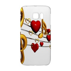 Music Notes Heart Beat Galaxy S6 Edge