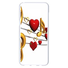 Music Notes Heart Beat Samsung Galaxy S8 Plus White Seamless Case