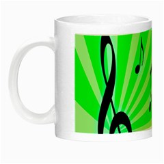 Music Notes Light Line Green Night Luminous Mugs