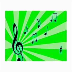 Music Notes Light Line Green Small Glasses Cloth (2-Side)