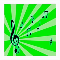 Music Notes Light Line Green Medium Glasses Cloth