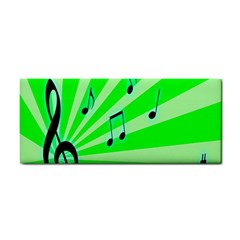 Music Notes Light Line Green Cosmetic Storage Cases