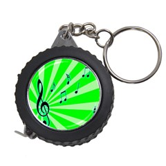 Music Notes Light Line Green Measuring Tapes