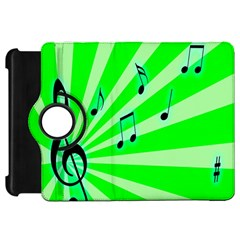 Music Notes Light Line Green Kindle Fire HD 7