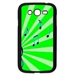 Music Notes Light Line Green Samsung Galaxy Grand DUOS I9082 Case (Black)