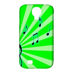Music Notes Light Line Green Samsung Galaxy S4 Classic Hardshell Case (PC+Silicone)