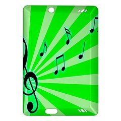 Music Notes Light Line Green Amazon Kindle Fire HD (2013) Hardshell Case