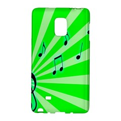 Music Notes Light Line Green Galaxy Note Edge