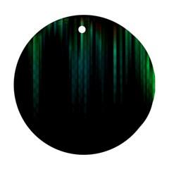Lines Light Shadow Vertical Aurora Ornament (Round)