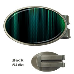 Lines Light Shadow Vertical Aurora Money Clips (Oval)
