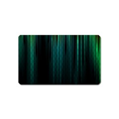 Lines Light Shadow Vertical Aurora Magnet (name Card)