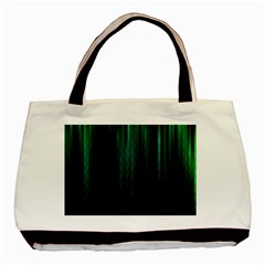 Lines Light Shadow Vertical Aurora Basic Tote Bag