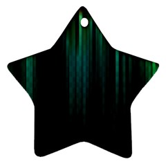 Lines Light Shadow Vertical Aurora Star Ornament (Two Sides)