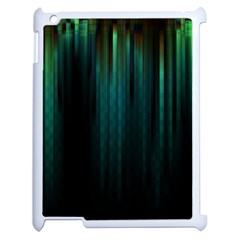 Lines Light Shadow Vertical Aurora Apple iPad 2 Case (White)