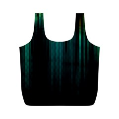Lines Light Shadow Vertical Aurora Full Print Recycle Bags (M)