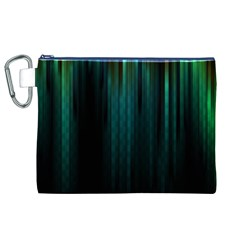 Lines Light Shadow Vertical Aurora Canvas Cosmetic Bag (XL)