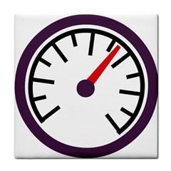 Maker Measurer Hours Time Speedometer Tile Coasters