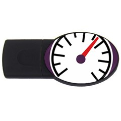Maker Measurer Hours Time Speedometer USB Flash Drive Oval (2 GB)