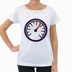 Maker Measurer Hours Time Speedometer Women s Loose-Fit T-Shirt (White)