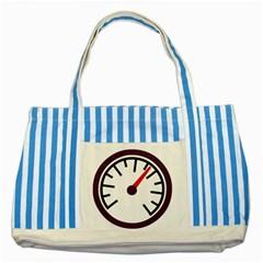 Maker Measurer Hours Time Speedometer Striped Blue Tote Bag