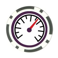 Maker Measurer Hours Time Speedometer Poker Chip Card Guard