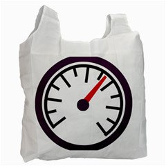 Maker Measurer Hours Time Speedometer Recycle Bag (One Side)