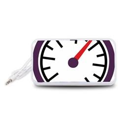 Maker Measurer Hours Time Speedometer Portable Speaker (White)