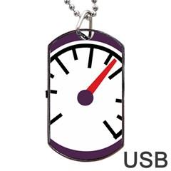 Maker Measurer Hours Time Speedometer Dog Tag USB Flash (One Side)