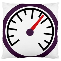 Maker Measurer Hours Time Speedometer Large Flano Cushion Case (One Side)
