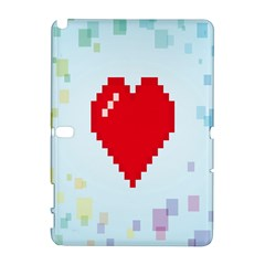 Red Heart Love Plaid Red Blue Galaxy Note 1