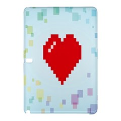 Red Heart Love Plaid Red Blue Samsung Galaxy Tab Pro 12.2 Hardshell Case