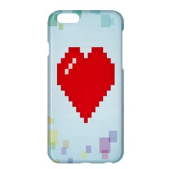 Red Heart Love Plaid Red Blue Apple iPhone 6 Plus/6S Plus Hardshell Case