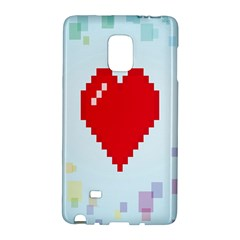 Red Heart Love Plaid Red Blue Galaxy Note Edge