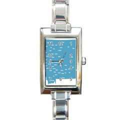 Peta Anggota City Blue Eropa Rectangle Italian Charm Watch