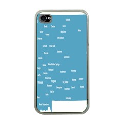 Peta Anggota City Blue Eropa Apple iPhone 4 Case (Clear)