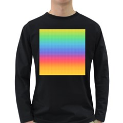 Plaid Rainbow Retina Green Purple Red Yellow Long Sleeve Dark T Shirts