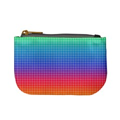 Plaid Rainbow Retina Green Purple Red Yellow Mini Coin Purses