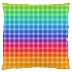 Plaid Rainbow Retina Green Purple Red Yellow Large Cushion Case (Two Sides)