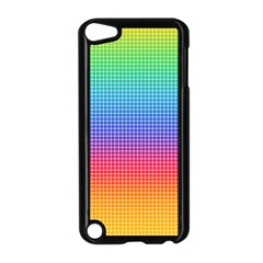 Plaid Rainbow Retina Green Purple Red Yellow Apple iPod Touch 5 Case (Black)